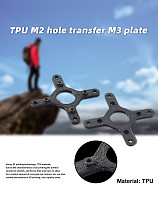 JMT 20mm M2 Hole Transfer 30.5mm M3 Hole Board Suitable for Drones FPV 3D Printing TPU