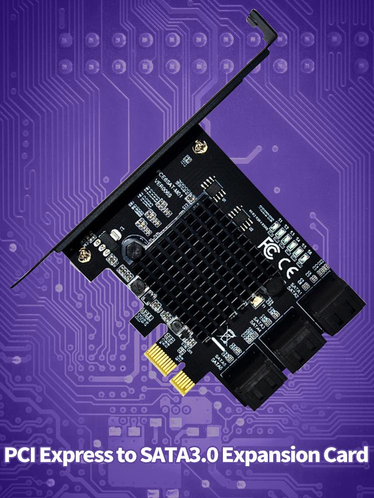 XT-XINTE 2-Port SATA III PCIE PCI Express to SATA3.0 6G Expansion Controller