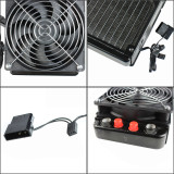 XT-XINTE Aluminum G1/4 240mm 2 Fans Radiator Computer Desktop CPU Water Cooling Aluminum Heat Liquid Cooler Thick 55mm Black