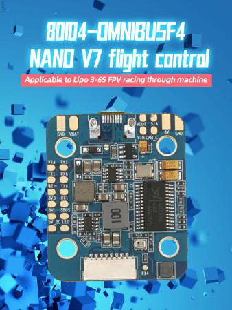 OMNIBUS F4 Nano V7 Flight control AIO BetaFlight Integrated OSD 3-6S 6x Hardware UARTs + 1x I2C for FPV Racing Drone DIY RC Quadcopter Multirotor
