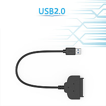 XT-XINTE USB 3.0 / USB 2.0 to SATA 2.5  Hard Drive 22 Pin High Speed Transfer Adapter Cable Converter for 2.5  Laptop HDD SSD Cable