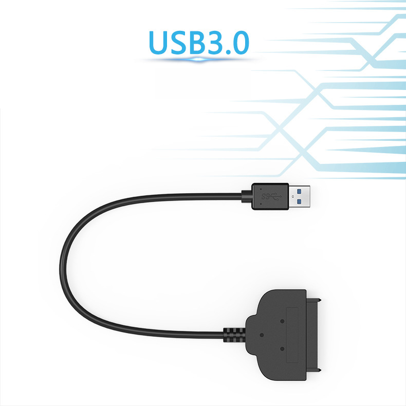 Computer Cables 2017 New USB2.0 to SATA 22Pin Cable for 2.5inch HDD Hard Drive Solid State Drive in Stock Cable Length: 50cm -