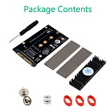 XT-XINTE Upgrade M.2 SSD M Key to U.2 SFF-8639 Adapter PCI-E U2 to M2 w Cooling Heatsink for NVME SSD Expansion Card 2230/2242/2260/2280