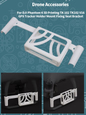 Sunnylife Tracker Holder Mount Fixing Seat Bracket P4-DW1 3D Printing for TK102 GPS Drone Wizard 4 4PRO/PRO+