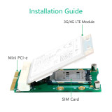 XT-XINTE Mini PCI-E Adapter Card mPCIe with SIM Card Slot for 3G 4G Module USIM Card Slot Extension/WWAN LTE/GPS Card Desktop Laptop