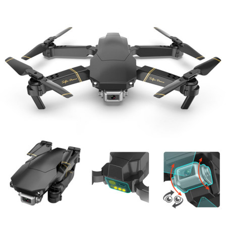 Global Drone GD89 Pocket Selfie Drone Foldable Drone RC Aircraft Camera Drone 480P 1080P Live Video Helicopter FPV Quadrocopter