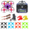 JMT DIY FPV Racing Drone RC Quadcopter RTF with Mobula7 V3 75MM Frame Crazybee F4 Pro V2.1 2-3S Flight Controller SE0802 Motors Flysky Remote Controller