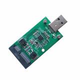 XT-XINTE Mini PCI-E mSATA to USB 3.0 External SSD Converter Data Transmission Adapter Module Expansion Card for Windows Vista/7/8/Mac