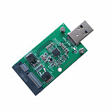 XT-XINTE Mini PCI-E mSATA to USB 3.0 External SSD Converter Data Transmission Adapter Module Expansion Card for Windows Vista/7/8/Mac