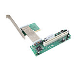 XT-XINTE PCI-E PCI Express to PCI Adapter Flexible Cable Mini PCIE 1x to 16x Ribbon Riser Card Extender for Bitcoin Miner