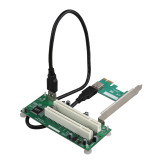 XT-XINTE Desktop PCI Express PCI-e to Dual PCI Adapter Card PCIE PCI Slot Expansion Riser Card USB 3.0 Add on Cards Converter