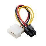 XT-XINTE 1x 18cm High Quality 4 Pin Molex to 6 Pin PCI-Express PCIE Graphic Video Card Power Converter Cord Adapter Cable