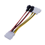 XT-XINTE 1Pc 4 Pin Molex to 3 Pin Fan Power Cable Adapter Connector 12V*2 / 5V*2 Computer Cooling Fan Cables for CPU PC Case 12.5cm