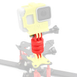 JMT 3D Printed TPU Camera Tripod Mount Adapter Heighten Angle for Aerial Photography for Gopro Hero 7 6 5 Xiaoyi RC FPV Racing Drone