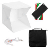 XT-XINTE Mini Photo Studio Light Box Adjustable Brightness Portable Folding Table Top Photography Lighting Kit LED Lights 4 Colors Backdrops 40cm