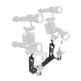 BGNING Diving Shell Bracket Aluminum Alloy CNC Diving Dual Handheld Stabilizer Fill Light Arm Grip With Anti-loose Ball Head for Photography Sports Camera