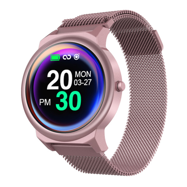 XT-XINTE ELF1 Smart Watch Bracelet 1.3 Inch Full Touch Round Screen Heart Rate Blood Pressure Monitoring Smart Bracelet