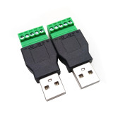 XT-XINTE USB Male/Female Terminal Green Adapter USB Extension Terminal Converter 5pin Terminal