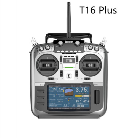 Jumper T16 Plus with HALL Gimbals Open Source Multi-protocol Radio Transmitter JP4-in-1 RF Module 2.4G 16CH 4.3  LCD