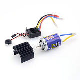 ZD Racing Universal 7.2V 45A ESC Speed Controller Electric adjustment 540 Brushled motor with Radiator For 1/10 RC Buggy truggy Monster truck Crawler Model Car