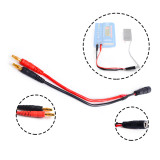 SHENSTAR ​4.0mm Banana Head Transfer to Fatshark FPV Video Glasses Battery Connecting Cable for B6 Lipo balance Charger Charging Line Wire