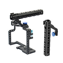 BGNING Camera Cage Protecting Case Mount with 1/4 3/8 Cold Shoe Extension Handle for Panasonic Lumix GH5 Camera Rig