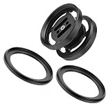 BGNing M67 Lens Holder Double Mount with 2pcs M67 to M52 Conversion Ring for Float Arm Underwater Floating Light Arm 67mm Macro Lens Carrier Carrying Mount Adapter for Diving Photography