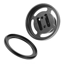 BGNing M67 Lens Holder for Float Arm Underwater Floating Light Arm 67mm Macro Lens Carrier Carrying Mount Adapter with M67 to M52 Conversion Ring for Diving Photography