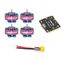 RCinpower DIY RC Drone Motor ESC Combo Kit 20A 4 In 1 ESC with 4pcs 1204 5000KV 3-4S Motor XT30 Plug for FPV Racing Drone Quadcopter