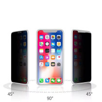 FCLUO Anti Glare Tempered Glass Screen Protector for iPhone X XS XR XS Max for Iphone 6/7/8 Plus Anti-peeping Privacy Protection Film