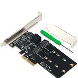 XT-XINTE PCI-E SATA3.0 to M.2 B-Key Adapter Card HDD Converter 3 SATA 3.0 External Ports + 2 M.2 B-Key Ports Support M.2 B-Key SSD Hard Drive 2.5/3.5 inch Serial Mechanical Hard Drive