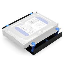 XT-XINTE Hard Disk Shock Absorber Bracket HDD SSD Converter Bracket Converts 3.5 to 5.25 Inch Hard Drive Bay Mounting Bracket Can Be Installed 8cm Fan for PC Case