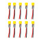 JMT 10Pcs XT30 Plug Pigtail Power Wire Cable 100F Capacitor for Happymodel Mobula7 HD Sailfly-X UR85 UR85HD Crazybee F3 F4 PRO RC Racing Drone