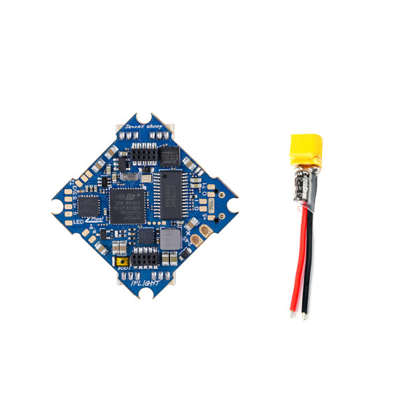 iFlight SucceX F4 2-4S Flight Controller AIO OSD BEC Built-in 12A BL_S ESC + XT30 Plug Pigtail Power Wire 100F Capacitor for DIY RC Racing Drone Whoop