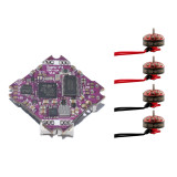 Happymodel DIY FPV Racing Drone Combo Set 4x EX1103 Brushless Motor + Supra-F4 F411 Flight Controller AIO OSD BEC & 12A BL_S 2-4S 4in1 ESC