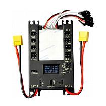 Sunnylife Mini Servo Distribution Board/ Section Board (4106#) with LED Screen/ Voltage Alarm/ BEC-Black Color