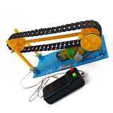 Feichao DIY Wire Control Wooden Electric Conveyor Transporter Belt Model Steam Toy Physics Science Education Toy Assembled Materials Kit
