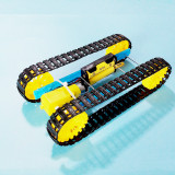 Feichao Smart Tank Chassis Handmade Educational Electric Robot Robotic Car Crawler Caterpillar Vehicle DIY Assembled for Children Toy