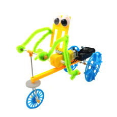 Feichao DIY Electric Bicycles Walking Robot Model Kit Making Invention Physical Science Experiment Toy Set Assembled Car Educational Toy