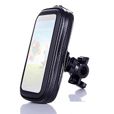 QWINOUT  Waterproof Phone Bag Bicycle Motorcycle with Back Holder Clip Stand For Samsung For iPhone Mobile Protective Case GPS Support