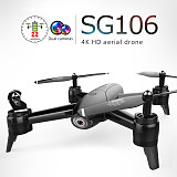 ZLL 2019 New SG106 Drone with Dual Camera 4K WiFi FPV Real Time Aerial Video Wide Angle Optical Flow MV Fliter Function RC Quadcopter Helicopter Kids Toys Gift