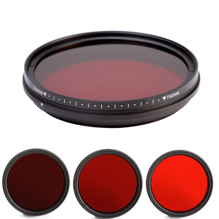 FOTGA Lens filter Adjustable Infrared Mirror Perspective Filter 750/590/680/720nm For CPL PL-CIR DSLR Photograph