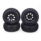 JMT 4PCS/Set Wheel Rim and Rubber Tires Traxxas Slash VKAR 10SC for 1/10 RC Short-Course Truck Car