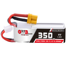 Gaoneng GNB 350mAh 3S HV 11.4V 50C Lipo Battery XT30 Plug for Full Speed Tiny Leader RC FPV Racing Drone CineWhoop BetaFPV