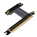 ADT-Link PCIe 3.0x4x8 Riser Extender for PCI-E SSD Industrial Gigabit Network Card 3.0x4x8 for Extension x16 PCI-Express 3.0 Cable