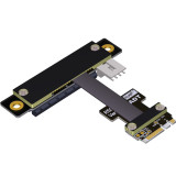 ADT-Link M.2 WiFi A.E Key A+E To PCI-e 4x x4 Riser Extender Adapter Card Ribbon Gen3.0 Cable AE Key A E For PCIE 3.0 x1 x4 x16 M2 Card