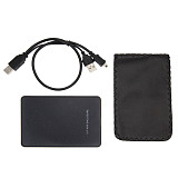 XT-XINTE 2.5 inch USB 2.0 SATA HDD Box Mobile SSD Hard Drive External Enclosure Case Support 2TB Data Transfer Backup Tool for PC Laptop