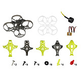 LDARC ET85 87.6mm Cinewhoop 4S Quadcoper Frame Kit with 4 Canopy ET85 FPV Racing Drone Accessories 1103 6500KV Motor 4S Battery
