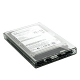 XT-XINTE Transparent HDD Case 2.5 inch 5Gbps USB 3.0 2.0 to SATA Tool Free External Hard Drive Enclosure Box Support 3TB UASP Protocol