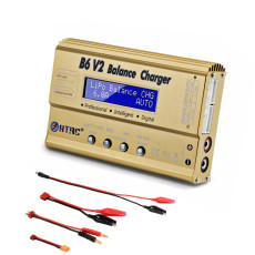 HTRC B6 V2 Balance Charger 80W Professional Digital Discharger For LiHV LiIonLiFe NiCd NiMH PB Battery LiPo Charger